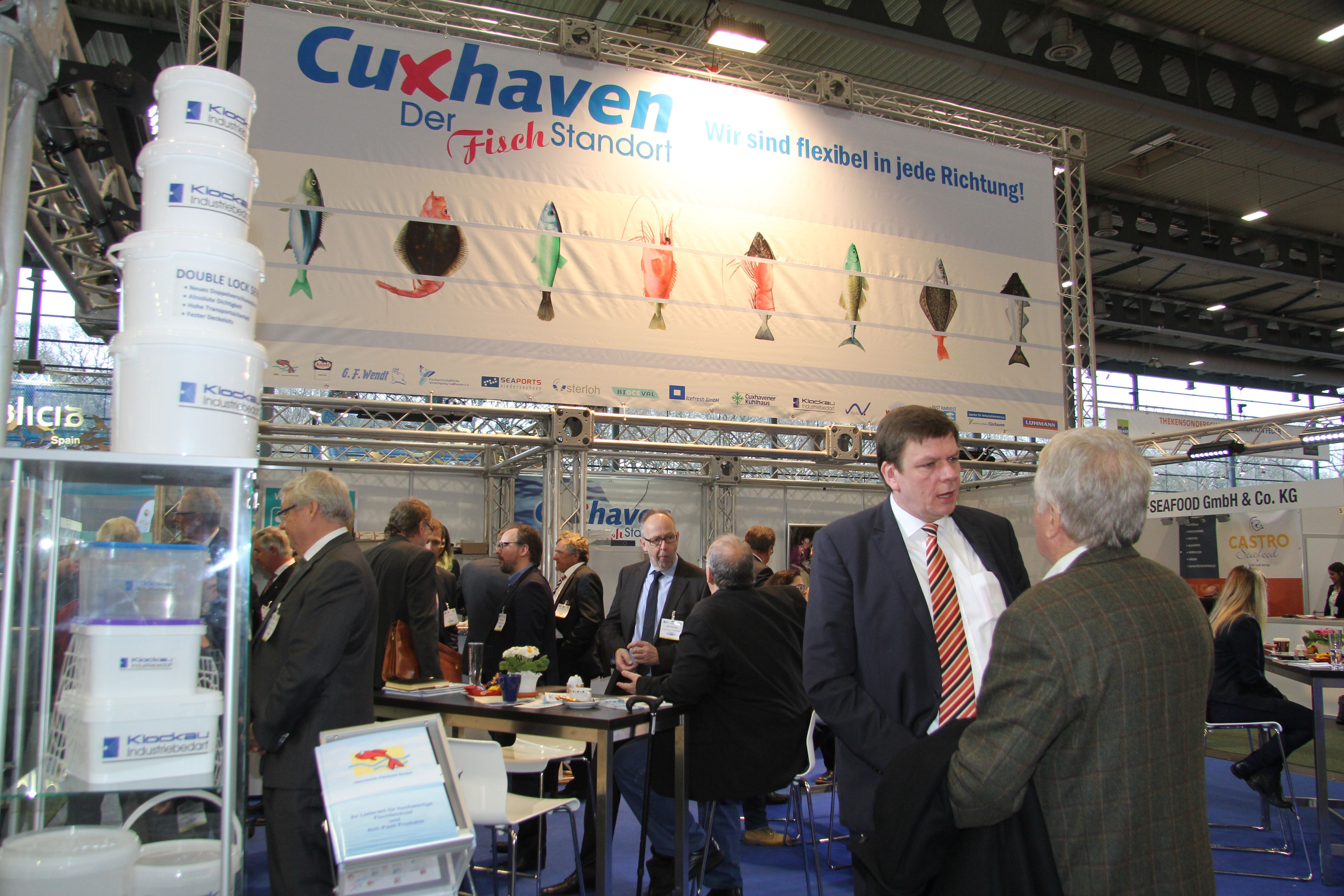 The Cuxhaven stand at the last fish international in 2016. Copyrigth: Thomas Sassen